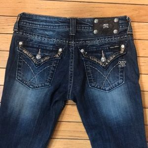 Miss me dark wash bling jeans size 26 boot cut